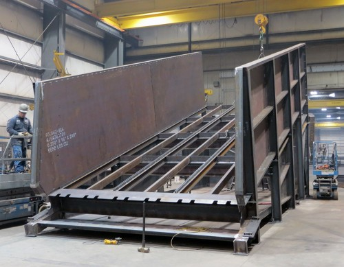 custom fabricated receiving hopper